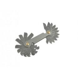 Závitové měrky pro měření stoupání závitů 0,25-6mm, měřič závitů 24ks GEKO