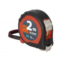 Metr svinovací, 2m, šířka pásku 16mm, gumový obal, EXTOL PREMIUM