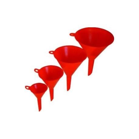 Trychtýř plastový červený, sada 4ks