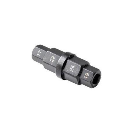 Nástrčný klíč na šrouby kol 17, 19, 22, 24mm GEKO