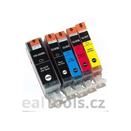 Sada PGI 520BK CLI-521 C/M/Y Pack
