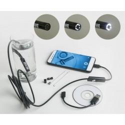 Endoskopická HD kamera, voděodolná, USB BASS