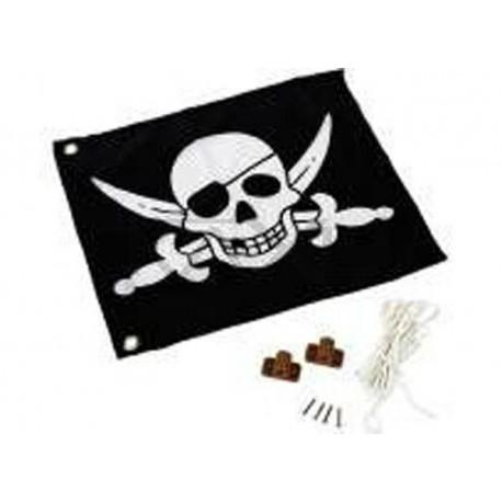 """Vlajka se systémem zvedání """"Piráti"""""""