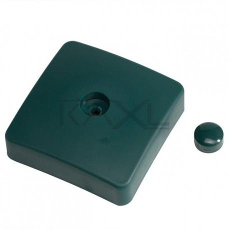 Plastová krytka zelená - hranol 100 x 100mm