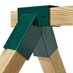 Spojovací díl, rohový spoj pro hranol 90 x 90 mm, pravoúhlý,