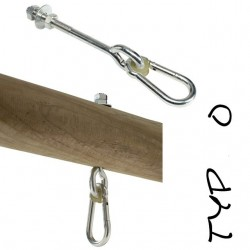 """Houpačkový hák, 100 mm, M10, typ """"O"""""""