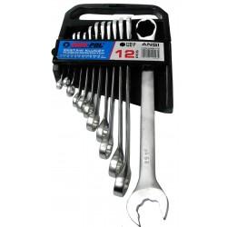 Klíče očkové-otevřené, hex systém, 6-25mm CrV MAR-POL, klip
