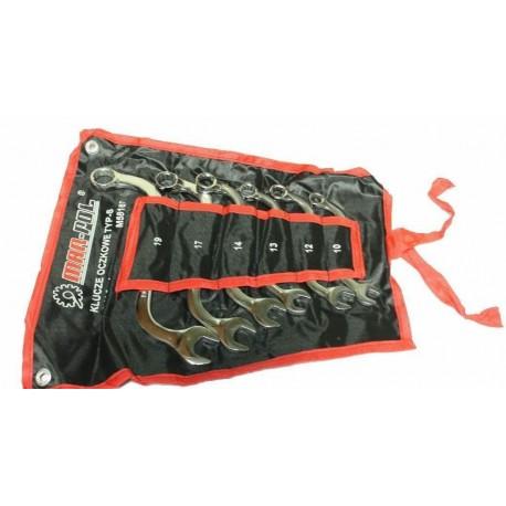 Klíče očkové-otevřené, S-typ, 6ks 10-19mm CrV MAR-POL, skládací obal