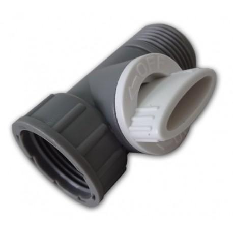 """WHITE LINE konektor na kohoutek s vnitřním, vnějším závitem 3/4"""" a ventilem"""