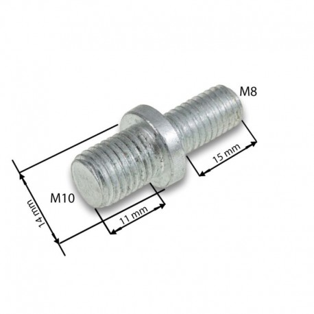 Adaptér na strunovou hlavu M10x1.25f/M8x1.25f