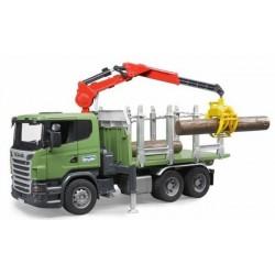 Nákladní auto pro přepravu dřeva Scania + 3 klády 03524 BRUDER