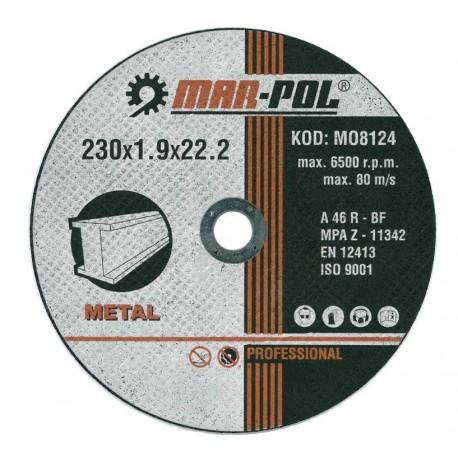 Kotouč řezný na kov, 230x1,9x22,2mm MAR-POL