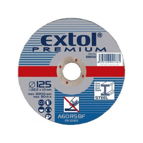 Kotouč řezný na ocel, 150x1,6x22,2mm, EXTOL PREMIUM
