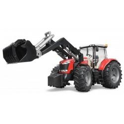 Traktor Massey Ferguson 7624 s čelním nakladačem 03047 BRUDER