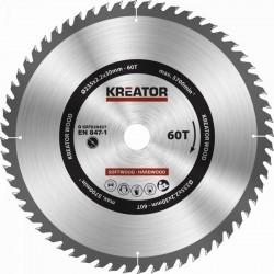 KRT020437 Pilový kotouč na dřevo 235mm 60T KREATOR