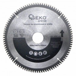 Kotouč řezný na hliník + redukce, 200x32 mm 100T, GEKO