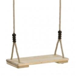 Houpačka, dřevěný sedák, lano PP10